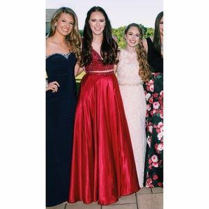 Sherri Hill Ruby Red Prom Dress